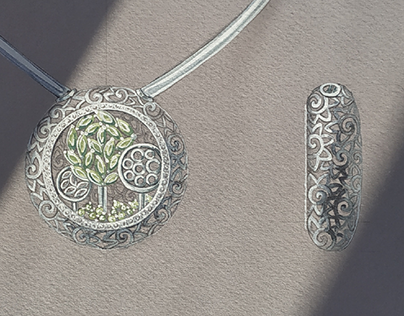 "necklace ""garden"""