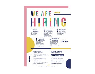 We Are Hiring Poster Design