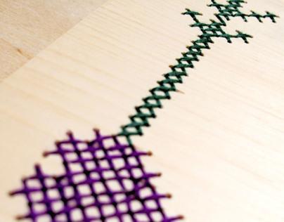 Embroidered Wood Invitations