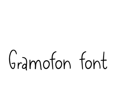 Gramofon font
