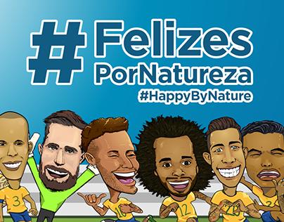 Caricaturas Campanha EMBRATUR #FelizesporNatureza