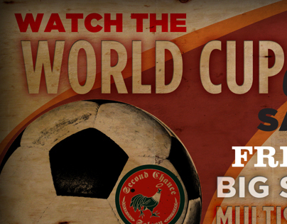 Second Chance Saloon World Cup Promotional Flyer