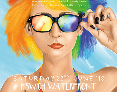 Suffolk Pride 2019 Poster set
