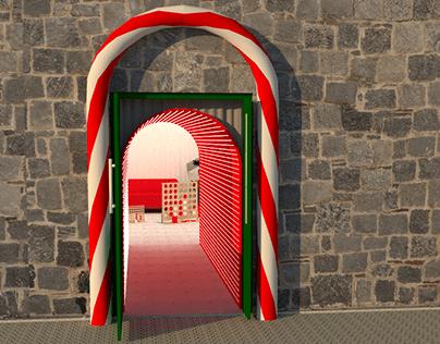 Santa's' grotto at Dublin zoo 2018