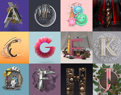 36 Days of Type in Adobe Dimension