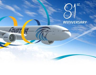 Egyptair 81st Anniversary - Facebook App