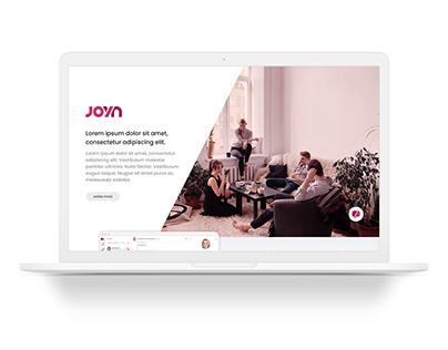Joyn - UI Web Design