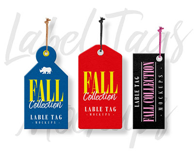 Label Tags Mockups