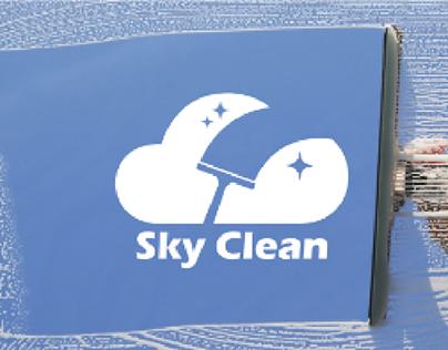 SKY CLEAN branding