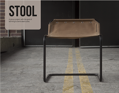 Steel/ Canvas Stool