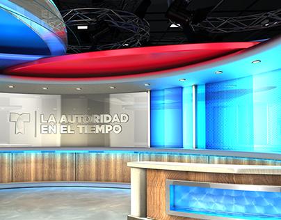 Telemundo Virtual Weather Set