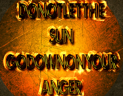 Sun Go Down On Your Anger