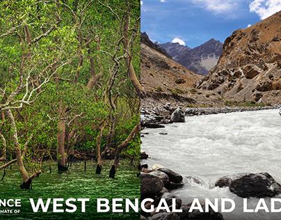 Ladakh and West Bengal