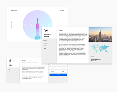 Landing page New York empire state building