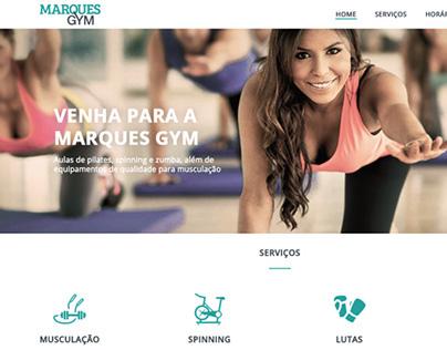 Marques Gym Website Design