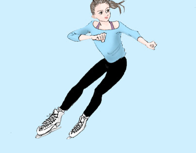 A Girl Practicing Figure Skating
