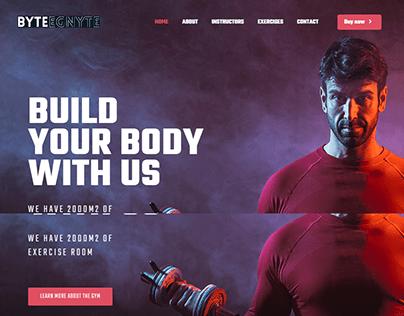 Gym Landing Page with Wordpress Elementor BeThemes