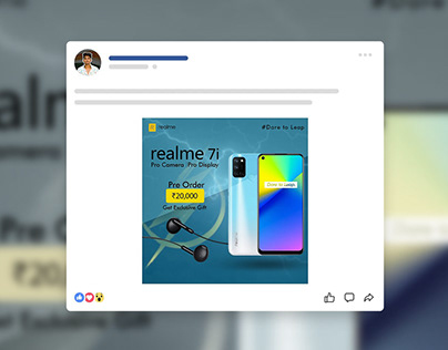 realme upcoming smartphone poster design