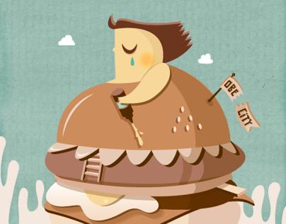 Obesity Campaign: Não Mergulhes no Fast-Food