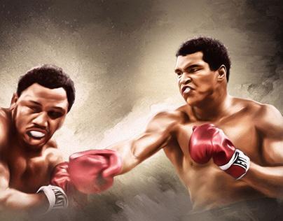 Ali VS Frazier 2 ~ Rumble in the jungle by Wayne Flint