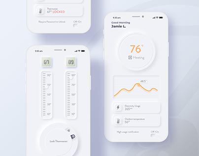 Neumorphism | Smart Thermostat App