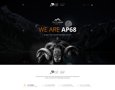 AP68 - Creative PSD Template