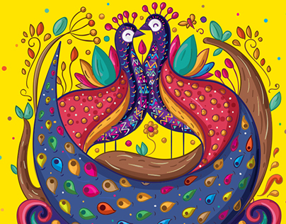 Alebrije, Mexican Art - Indian Wedding Invitation Suite