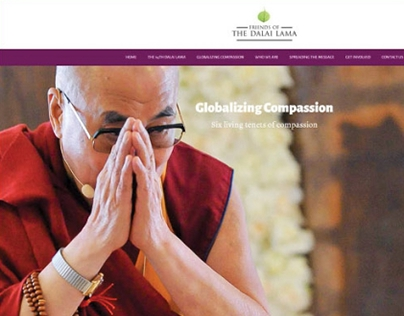 Friends of the Dalai Lama Web Design