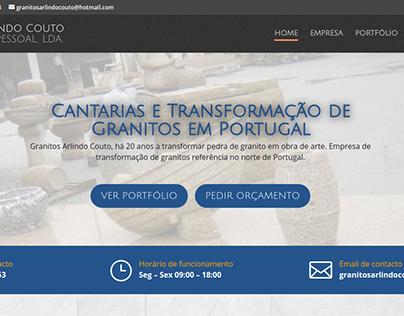 Website Granitos Arlindo Couto