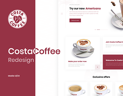 Costa Coffee - Redesign