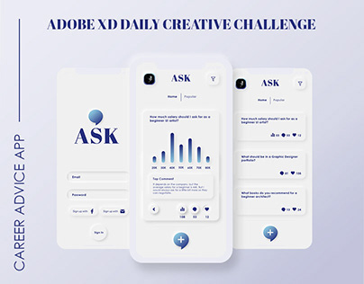 XD daily challenge day 4 - Job questions app