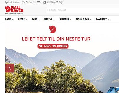 FJALL RAVEN eCommerce Website