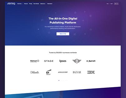 Joomag Website Homepage