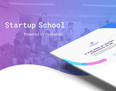 Peekaboo Startup School - Landing page