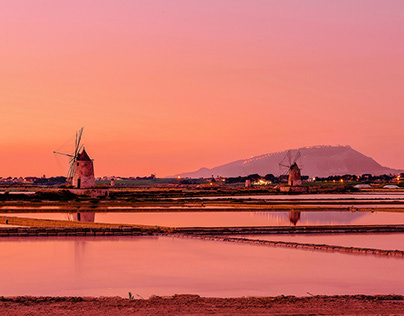 Sunset in the Salt pans - shooting