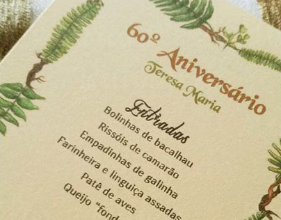 60th Birthday - Events Stationery
