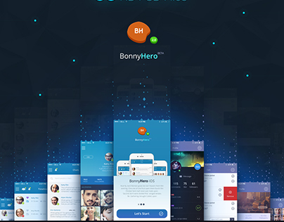 Bonny Hero App   Phone   Mobile UI ver. 2.0