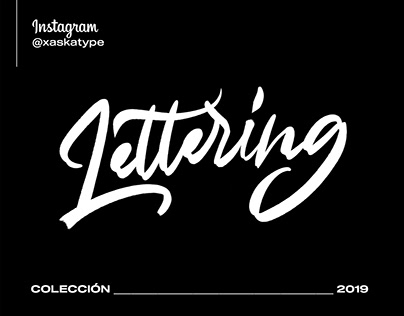 Lettering Collection 2019 ı @xaskatype on Instagram