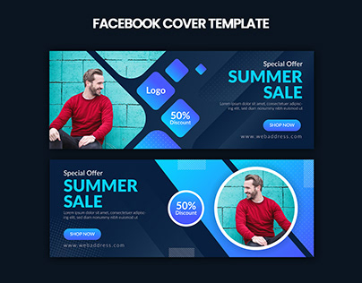 Summer Sale Facebook Cover Template