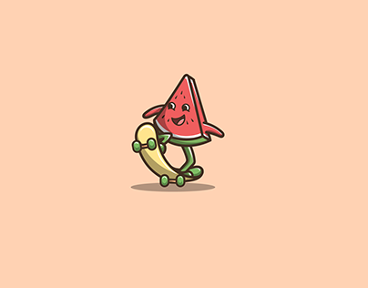 watermelon skateboard