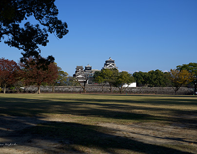 Today's Kumamoto Castle (after Earthquake 2016)