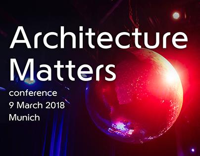 Architecture Matter 2018 - website