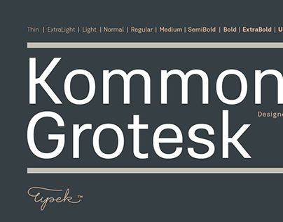 Kommon™Grotesk typeface