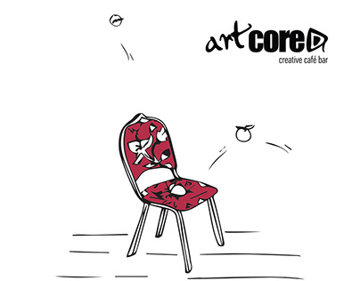 Illustrated Menu Design for Artcore Cafe, Thessaloniki