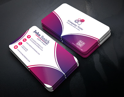 Business Card Waves Design with different colors