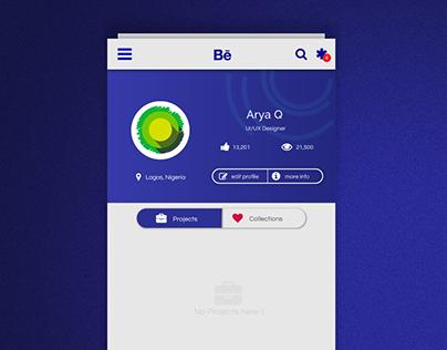 Daily UI Challenge 9: Behance App