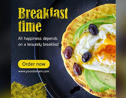 Free Breakfast Time Web Banner Set