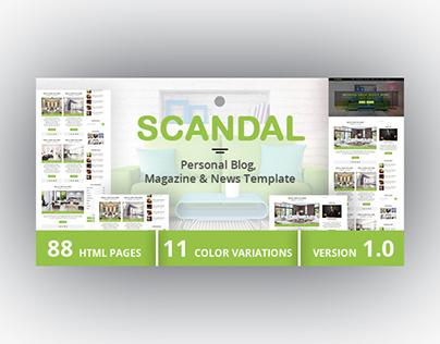 SCANDAL - Personal Blog, Magazine & News Template