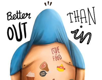 FULTOO faux tattoos illustrative ad campaign