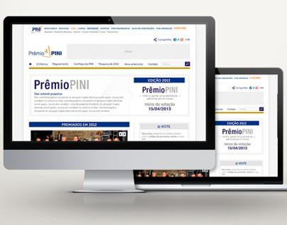 Website Prêmio Pini